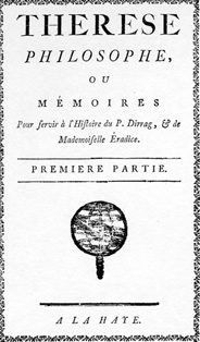 Thérèse philosophe, Anonimo, 1748